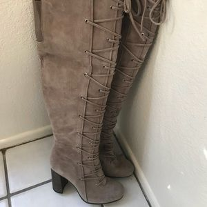 932d4fce579 Vince Camuto Shoes - Vince Camuto Thanta - Over the Knee lace up Boots